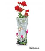 Изящная ваза: купить вазы для цветов из цветного стекла (гусь хрустальный)