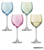 Купить бокалы для вина из цветного стекла