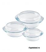 Купить набор стеклянных (из стекла) кастрюль