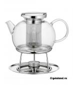 Купить стеклянный заварочный чайник с подогревом свечами (от свечи)