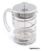 Стеклянный заварочный чайник с прессом