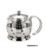 Купить стеклянный заварочный чайник с ситечком (фильтром) в интернет магазине