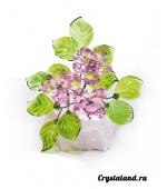 Купить цветы из цветного хрусталя