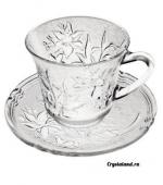 Стеклянная чашка с блюдем: купить стеклянное блюдце