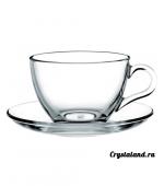 Стеклянная чашка с блюдцем: купить стеклянные чайные (для чая) чашки