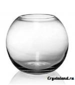 Стеклянная прозрачная круглая ваза - купить