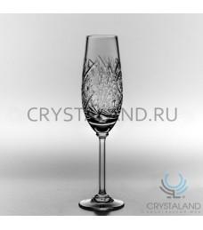 Xрустальные бокалы для шампанского, набор из 6 шт, 160 гр.