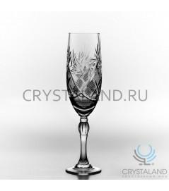 Xрустальные бокалы для шампанского, набор из 6 шт, 170 гр.