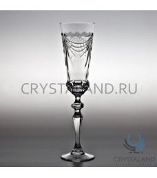 Хрустальные бокалы для вин и шампанского, набор из 6 шт, 190 гр.
