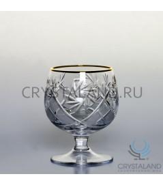 Набор хрустальных бокалов для бренди (отводка золотом), 6 шт, 330 гр.