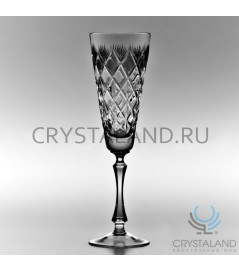 Набор хрустальных бокалов для шампанского, 6 шт, 210 гр.