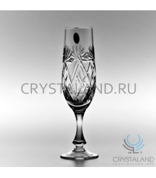 Набор хрустальных бокалов для шампанского, 6 шт, 220 гр.
