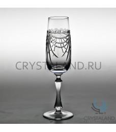 Xрустальные бокалы для шампанского, набор из 6 шт, 200 гр.
