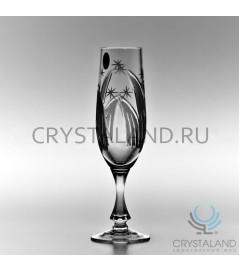"""Набор хрустальных бокалов для шампанского """"Комета"""", 6 шт, 220 гр."""
