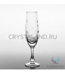"""Набор хрустальных бокалов для шампанского """"Линзы"""" , 6 шт, 170 гр."""