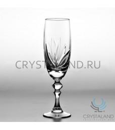 """Набор хрустальных бокалов для шампанского """"Лотос"""", 6 шт, 200 гр."""