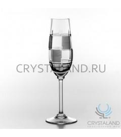 Xрустальные бокалы для шампанского на тонкой ножке, набор из 6 шт, 160 гр.