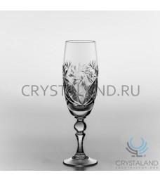 Набор хрустальных бокалов для вин и шампанского, 6 шт, 200 гр.