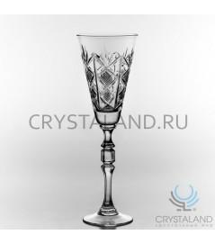 Набор хрустальных бокалов для вин и шампанского, 6 шт, 160 гр.