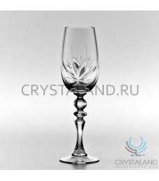 """Набор хрустальных бокалов для вин и шампанского """"Лотос"""", 6 шт, 210 гр."""