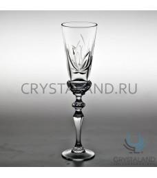 """Xрустальные бокалы для шампанского """"Лотос"""", набор из 6 шт, 190 гр."""