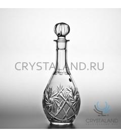 Хрустальный графин, бесцветный хрусталь, 0,75 литр