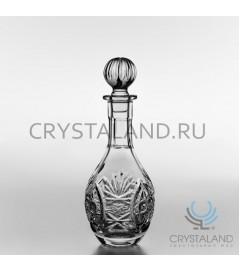 Хрустальный графин, бесцветный хрусталь, 0.4 литр