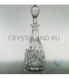 Хрустальный графин для напитков из бесцветного хрусталя, 0.75 л.