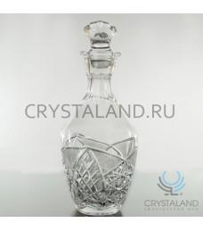 Хрустальный графин для напитков из бесцветного хрусталя, 0.5 л.