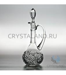 Хрустальный графин для вина, бесцветный хрусталь, 0.75 л.