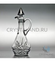 "Хрустальный графин ""Лотос"", бесцветный хрусталь, 0.75 л."