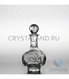 "Хрустальный графин ""Лотос"", бесцветный хрусталь, 0.35 л."