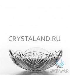 Хрустальная ваза для фруктов из бесцветного хрусталя, 19 см