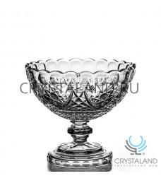 Хрустальная ваза для конфет и печенья из бесцветного хрусталя, 20 см