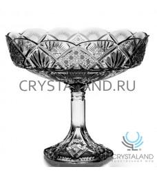 """Хрустальная ваза для конфет и печенья из бесцветного хрусталя """"Люсия"""", 25.5 см"""