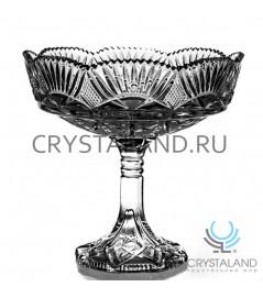 """Хрустальная ваза для конфет и печенья из бесцветного хрусталя """"Люсия"""", 23 см"""