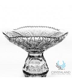 Хрустальная ваза для конфет из бесцветного хрусталя, 10.5 см