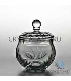 "Хрустальная ваза для конфет с крышкой ""Лотос"", 16 см"