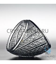 """Хрустальная ваза для конфет средняя """"Диагональ"""", 14 см"""