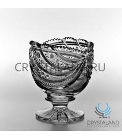 """Хрустальная вазочка для конфет из бесцветного хрусталя """"Лакомка"""", 14 см"""