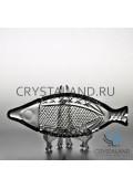 Рыбница из бесцветного хрусталя, 24.5 см-2018-12-10
