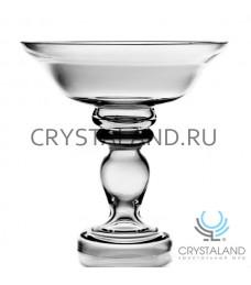 Стеклянная ваза для фруктов из бесцветного стекла, 36.5 см