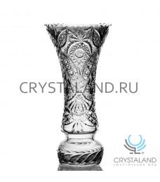 """Хрустальная ваза для цветов """"Салют"""", бесцветный хрусталь 38 см."""