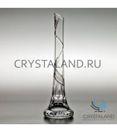 Хрустальная ваза для одного цветка 39 см.
