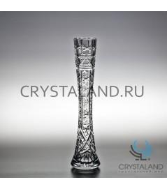 """Хрустальная ваза для одного цветка """"Гвоздика"""" 38 см."""