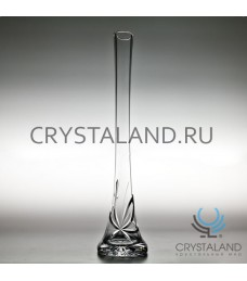 """Хрустальная ваза для одного цветка """"Лотос"""" 41 см."""