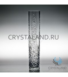 "Хрустальная ваза для одного цветка ""Паутинка"" 38 см."