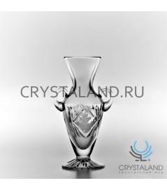 """Хрустальная ваза для цветов """"Амфора"""", бесцветный хрусталь 16.5 см."""