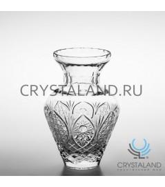 """Хрустальная ваза для цветов """"Амфора"""", бесцветный хрусталь 25 см."""