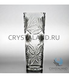 """Хрустальная ваза для цветов """"Бабочка"""", бесцветный хрусталь 30 см."""